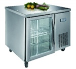 Luxury project static cooling 01 table top refrigerator(glass door)