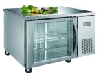 Luxury project static cooling 02 table top refrigerator (glass door)