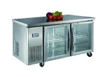 Luxury project static cooling 03 table top refrigerator(glass door)