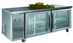 Luxury project static cooling 04 table top refrigerator(glass door)