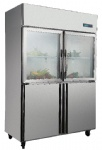 Standard D type copper double temperature static cooling refrigerator(customzed)