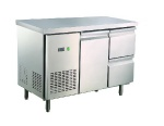 European one door fan cooling table refrigerator with 2 drawers